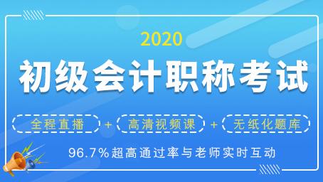 2020年初级会计职称考试通关套餐(直播+录播)